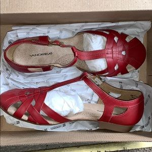 Andrea Red sandals